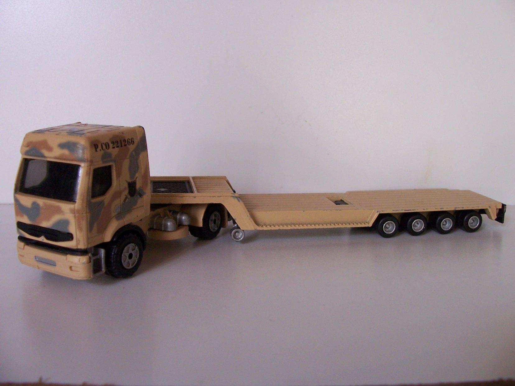 Camion porte char de majorette 1 60 for Porte char 60 tonnes